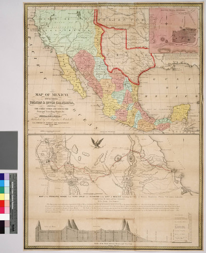 Calisphere Map Of Mexico Including Yucatan And Upper California