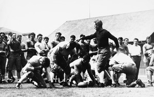 Football coach Howard Jones, USC, ca. 1925-1940