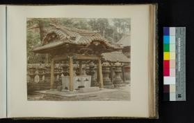 Photograph of structure at Shiba Temple in Tokyo