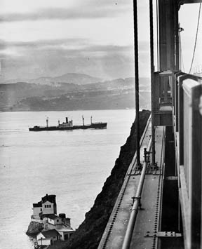 """1st ship out at end of strike."" Vessel not identified [neg. dated 1949, but strike was over early December 1948]"