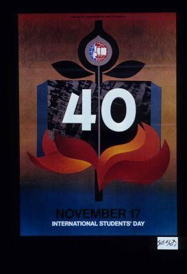 40, November 17, International Students' Day