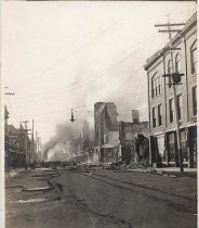 Fire on South Second Street After Earthquake