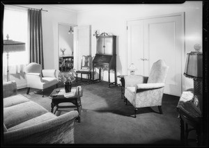Interiors of Haulden Hall, Southern California, 1932