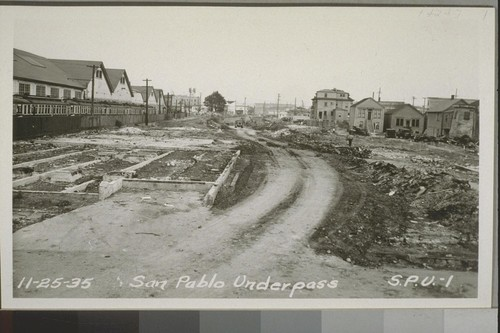 San Pablo Underpass, East Approach, 1935-36--No. 1-59