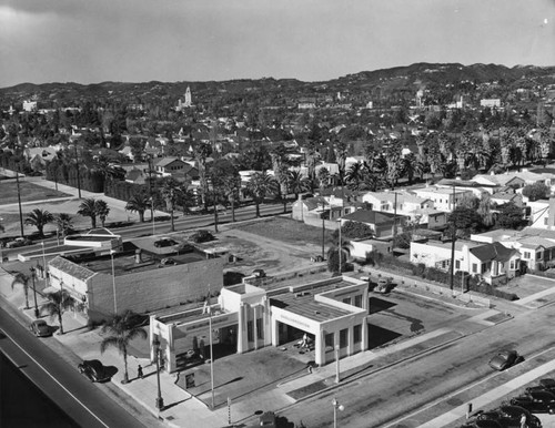 Panoramic view of Beverly Hills
