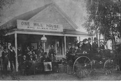 One Mile House, roadhouse in early 1900s