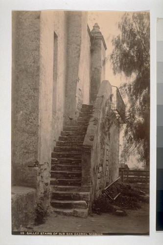 Galley Stairs of Old San Gabriel Mission. 89