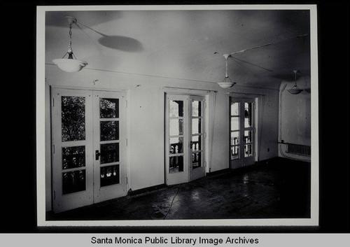 Second Floor Public Room French Doors Looking Northwest Santa