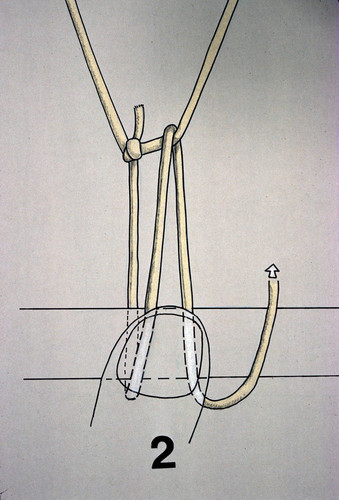 Illustration of knot used in net-making process