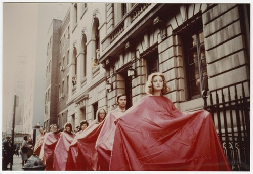 Untitled photograph (Dress for 500, Do; James Lee Byars and 6 Plays at the Architectural League of New York)
