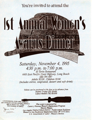 Calisphere: 1St Annual Women'S Awards Dinner Flyer