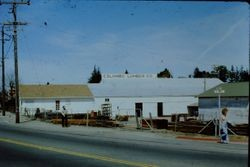 Colombo Lumber Company, established in 1932 and shut down in 1978, at the corner of Palm Avenue and South Main Street in Sebastopol