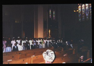 Large group of children at the front of an unidentified COGIC sanctuary