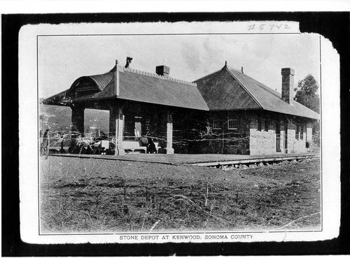 Stone depot at Kenwood, Sonoma County