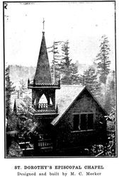 St. Dorothy's Episcopal chapel, designed and built by Meeker at Camp Meeker California near the Russian River