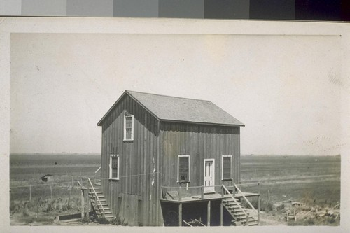 [Unidentified farm building, possibly in the Sacramento or Stockton area.]