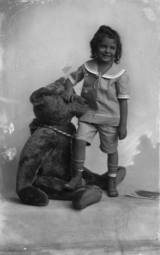 Girl with stuffed bear