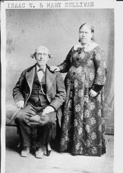 "Isaac W. and Mary ""Polly"" (n. Gilliam) Sullivan, about 1870"