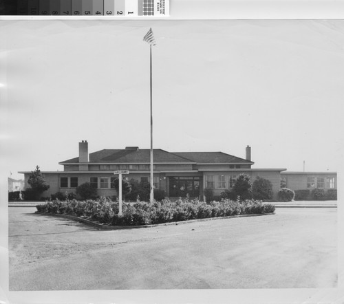 [Photograph of Administration building of Atchison Village War Housing]