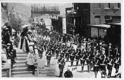 Virginia City, Nevada. Parade of Company B, Emmet Guard