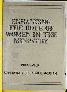 Enhancing the role of woman in the ministry, presentation, after 1987