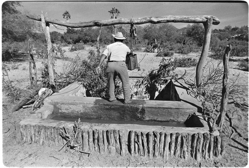 Drawing water at Rancho Los Pozos