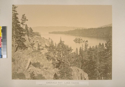 Emerald Bay, Lake Tahoe, view from the Cascade