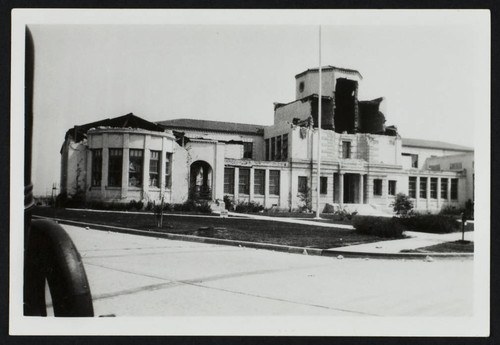 Lowell Elementary School, Damage From The 1933 Earthquake