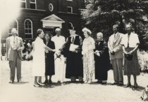 Lee de Forest in honorary degree hood with Marie de Forest, Talladega College