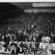 Southern Pacific Railroad Company's Safety Show with the audience at Sacramento High School Auditorium in 1950