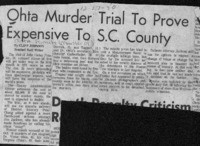 Ohta Murder Trial To Prove Expensive To S.C. County
