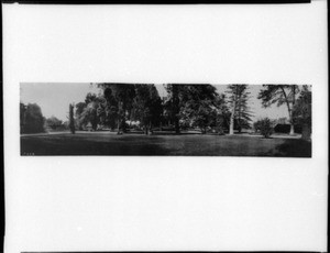 Panoramic view of the Huntington residence (Judge O.W. Childs Place), Los Angeles, ca.1908