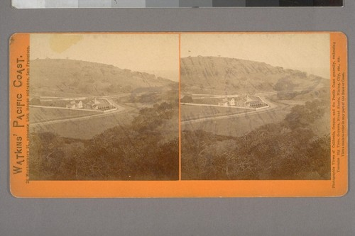 [Santa Clara Valley from W.C. Ralston's, Belmont. Home or stables in the hills, San Mateo County.]