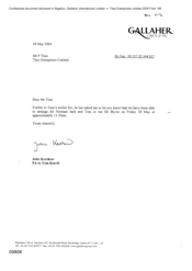 [Letter from Julia Kershaw to P Tlais regarding meting of Norman Jack and Tom with Byrne]