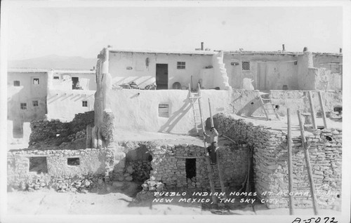 Calisphere Pueblo Indian Homes At Acoma New Mexico The Sky City