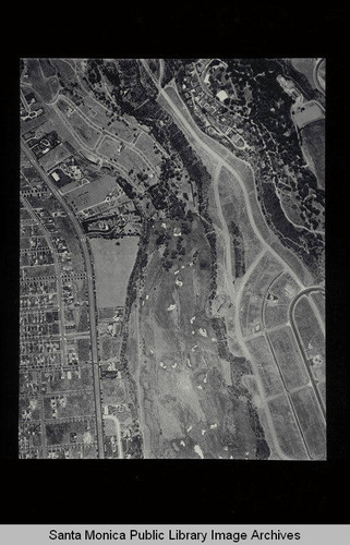 Aerial survey of the City of Santa Monica north to south (north on right side of the image) Pacific Palisades and Santa Monica Canyon to San Vicente Blvd. (Job#C235-D1) flown in June 1928