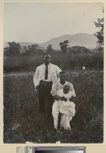 Portrait of Father Harry and his family, Malawi, ca.1925