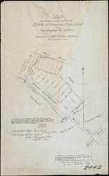 Map of subdivision of a part of the estate of Ynuario Aviala Decd. in Los Angeles City, California, October 1888
