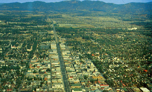 Van Nuys, California from the air