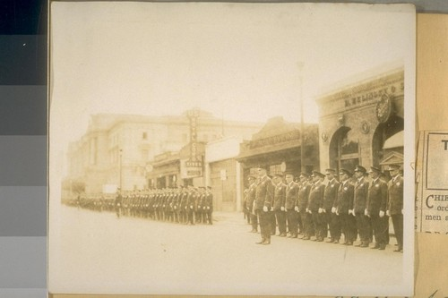 Inspection S.F. [San Francisco] Police - Capt. Chas. Goff in front - Nov. 3/28