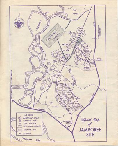Calisphere Boy Scout Jamboree Map Newport Beach 1953