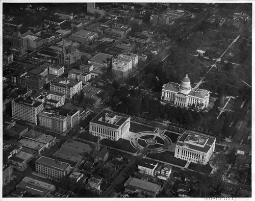 Aerial View of Capitol Extension