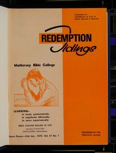 Redemption tidings, vol. 51, nos. 1-52, 2 Jan. - 25 Dec. 1975