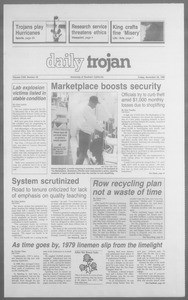 Daily Trojan, Vol. 113, No. 60, November 30, 1990