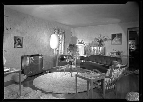 Grossman, Greta [Magnusson], residence . Interior and Living room