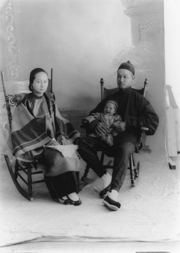 Unidentified Chinese Family, Group Portrait, Anaheim. [graphic]