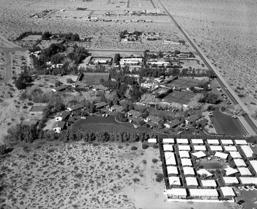 Racquet Club of Palm Springs, looking north, Indian Canyon Drive