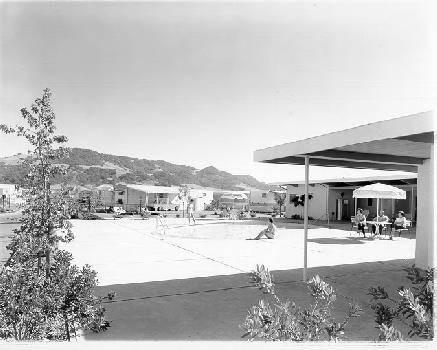 Calisphere Swimming Pool At El Portal Mobile Estates Santa Rosa California 1965