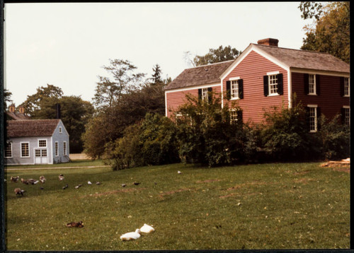 Snapshot of Luther Burbank home reconstruction at Greenfield Village, Michigan, 1985