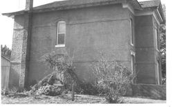 East side of two story brick house at 253 Fannon Avenue, Sebastopol, California in 1959